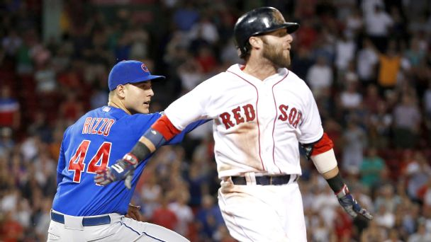Anthony Rizzo and Dustin Pedroia