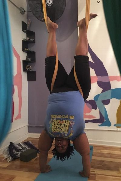 Beyond the mat, I've also found my wings in aerial yoga, Lakins writes.