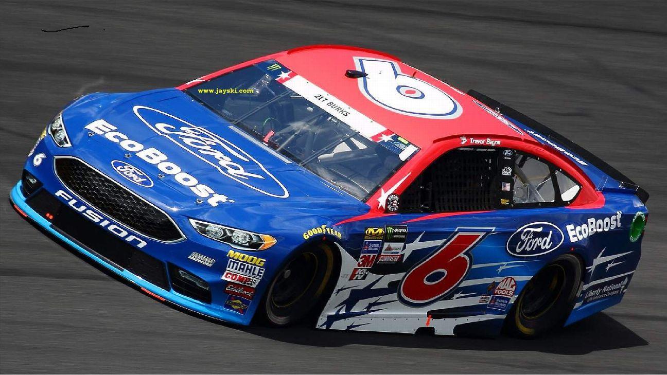 2017 NASCAR Cup Series Paint Schemes - Team #6 Roush Fenway Racing