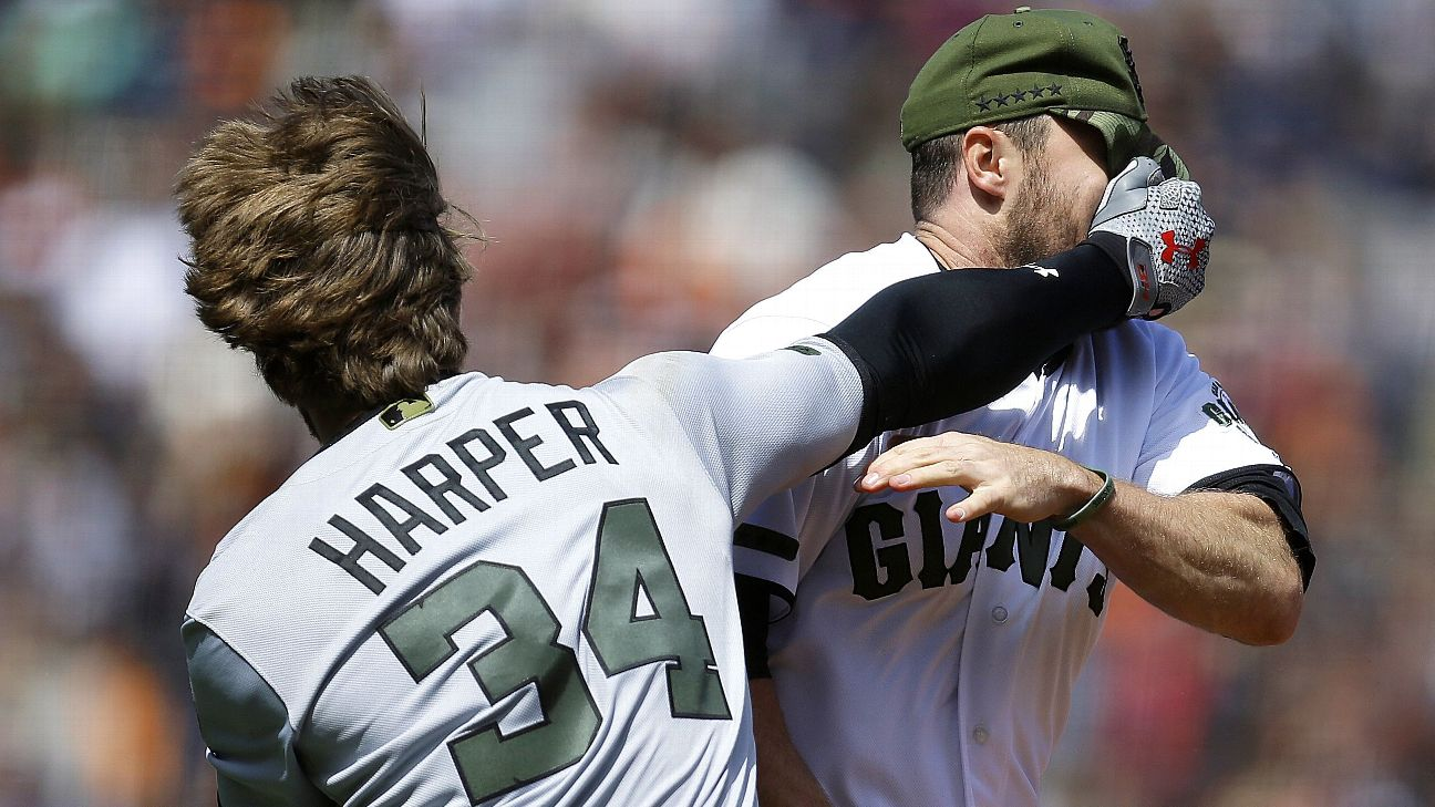 Bryce Harper, Hunter Strickland