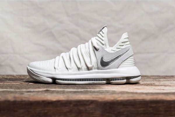 9ee81459a6bc The white version of the KDX Still KD shoe that Kevin Durant will wear  during Game. Nike