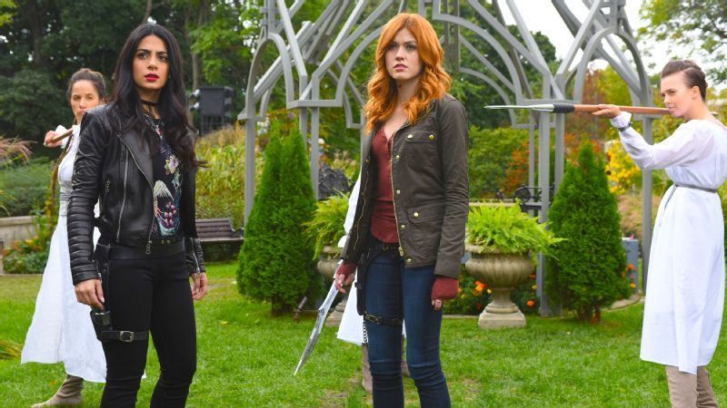 Shadowhunters stars Emeraude Toubia, left, and Katherine McNamara on the physicality of their roles.