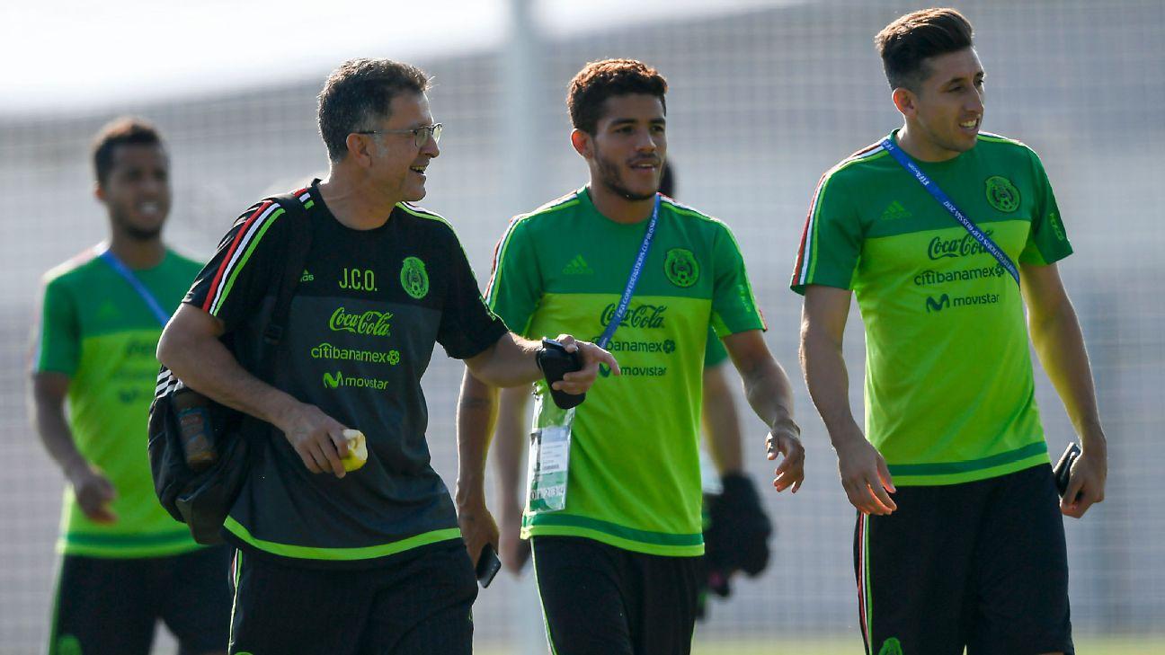 Juan Carlos Osorio, Jonathan dos Santos, Héctor Herrera