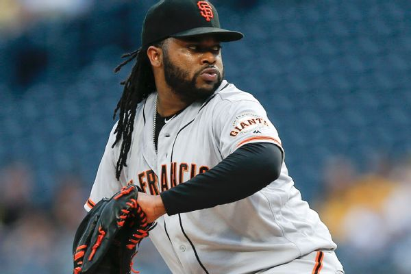 Giants' Johnny Cueto pulled from rehab start due to forearm tightness