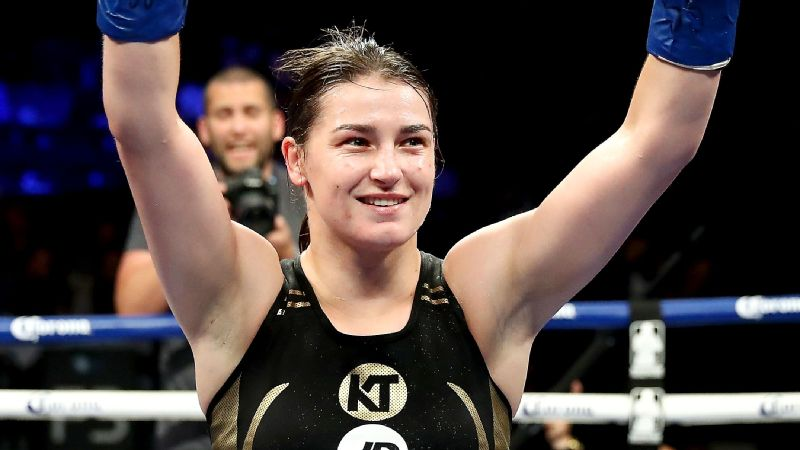 Olympic champion Katie Taylor, shown after a win in Brooklyn in July, will fight for another title against Victoria Bustos.