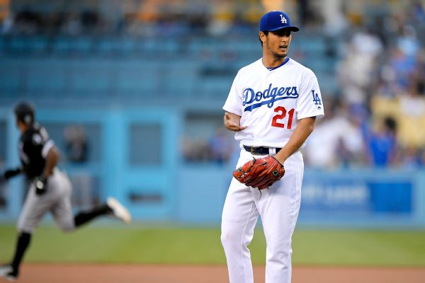 Dodgers' Yu Darvish pulled as precaution due to tightness in back