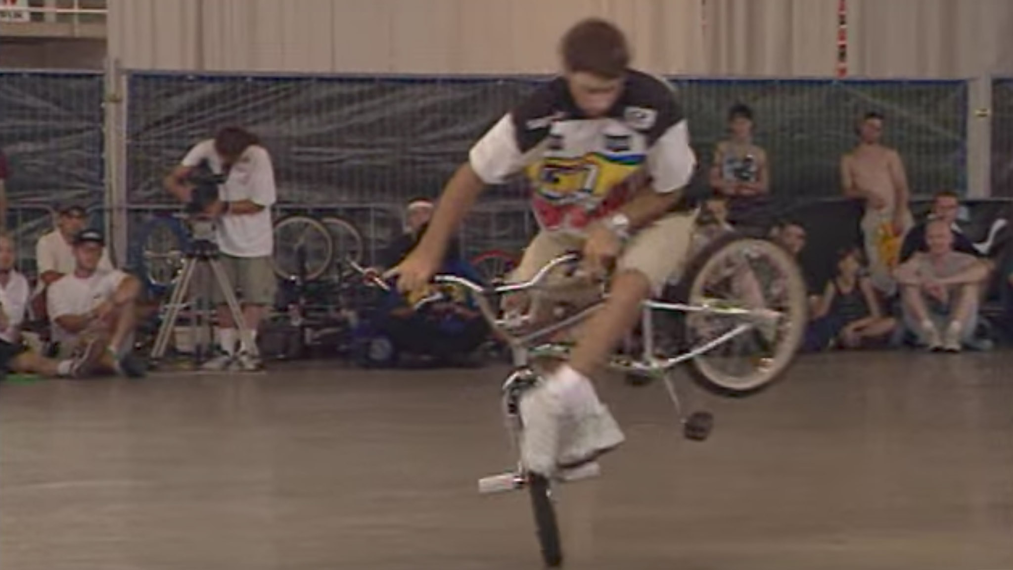BMX flatland rider Jason Brown, seen here during his run at the 1997 Worlds in Eindhoven.