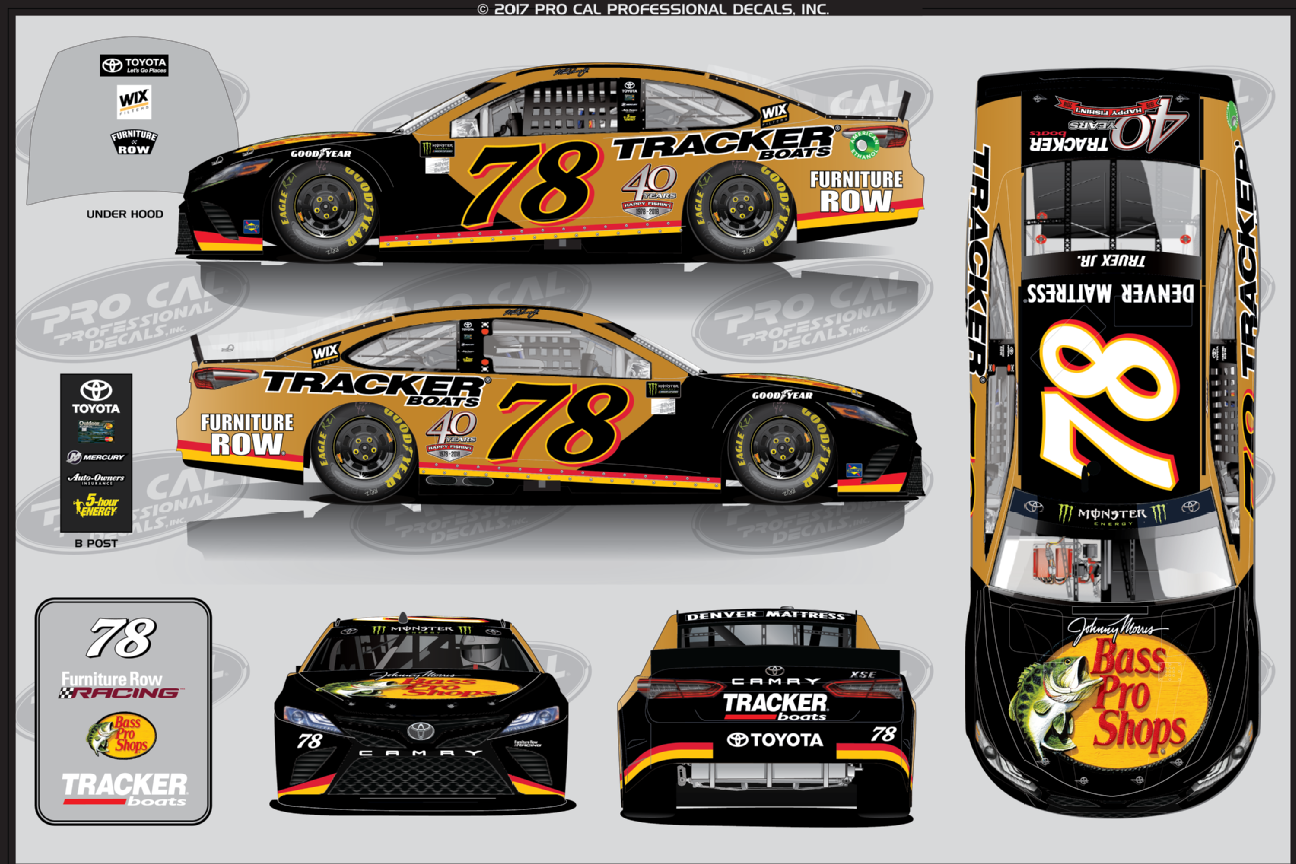 2017 Nascar Cup Series Paint Schemes Team 78 Furniture Row Racing