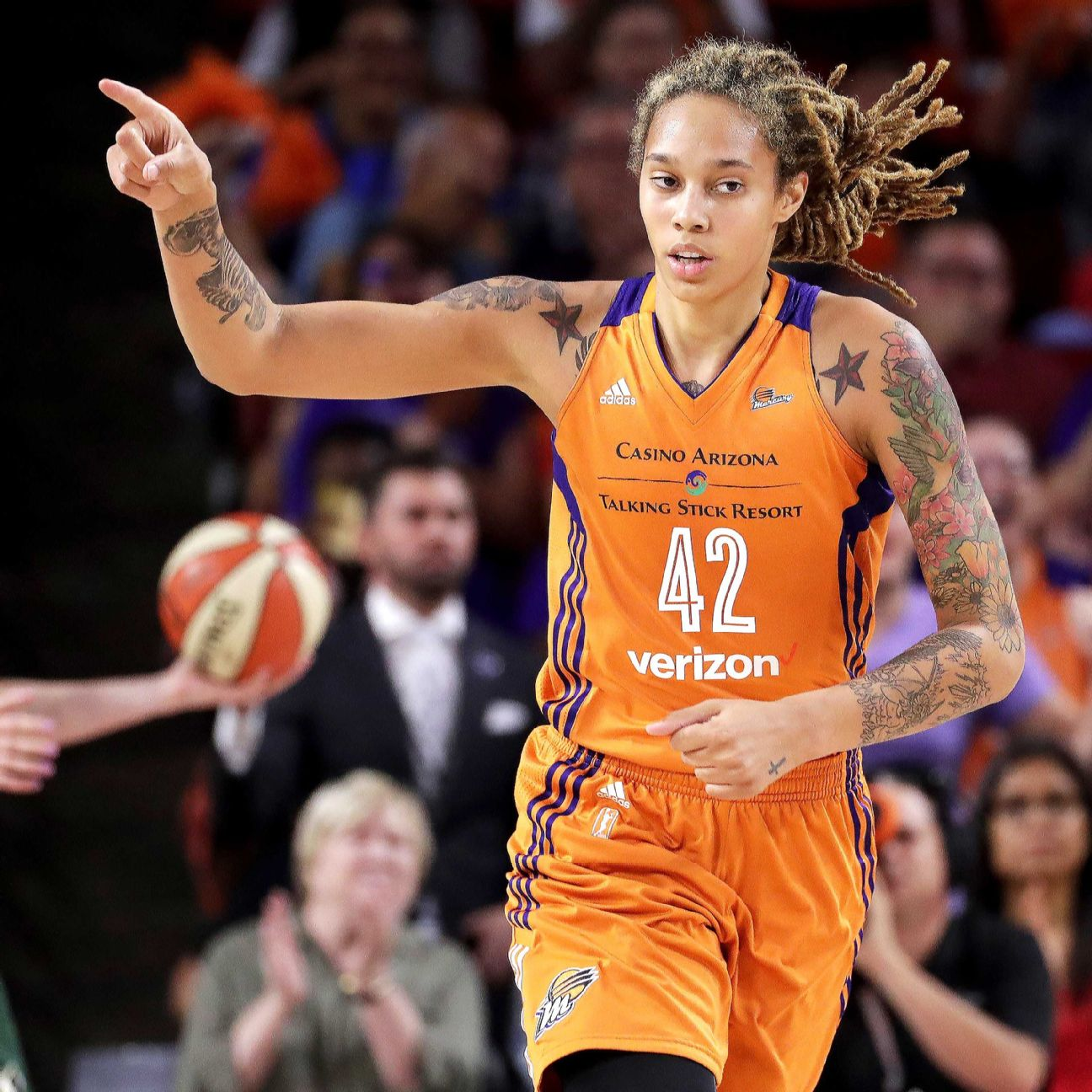Phoenix Mercury's Brittney Griner, Washington Mystics ... Brittney Griner