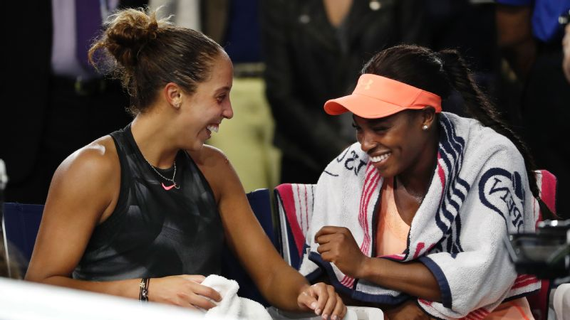 Sloane Stephens spent as much time consoling friend and US Open runner-up Madison Keys as she did celebrating her championship.