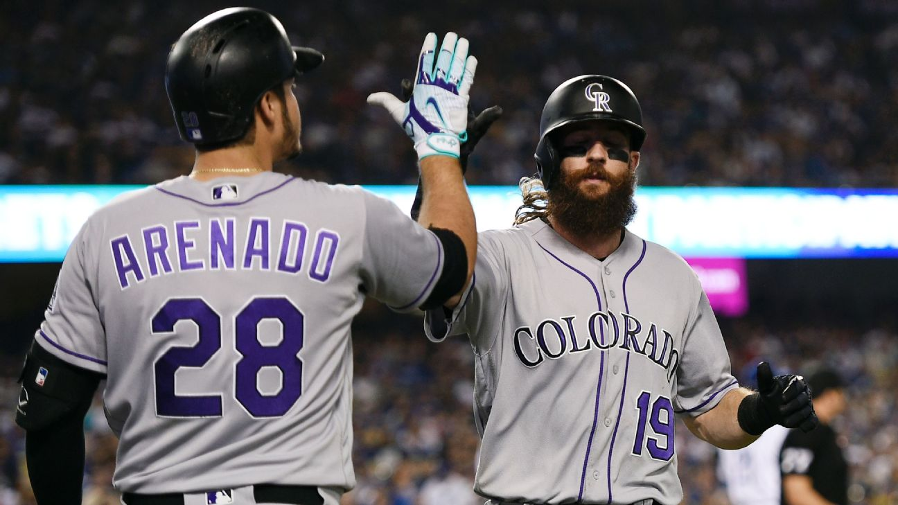 Nolan Arenado and Charlie Blackmon -- Colorado Rockies