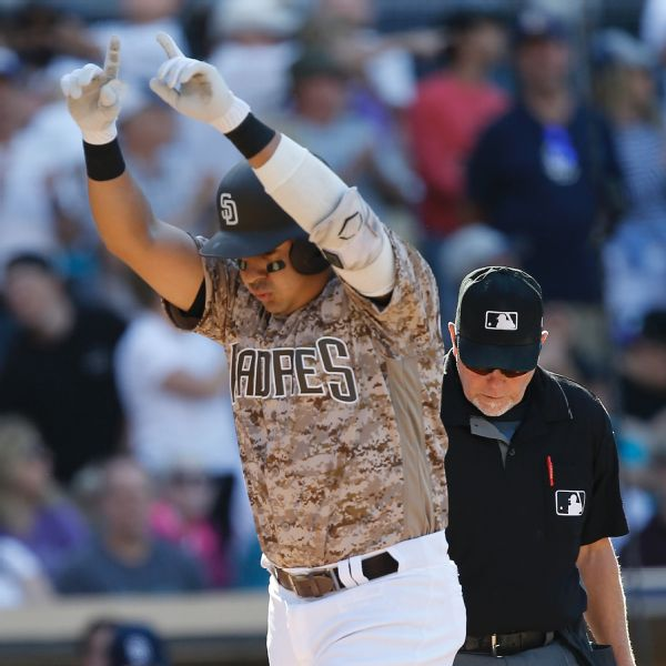 San Diego's Christian Villanueva hits 3 homers against ...