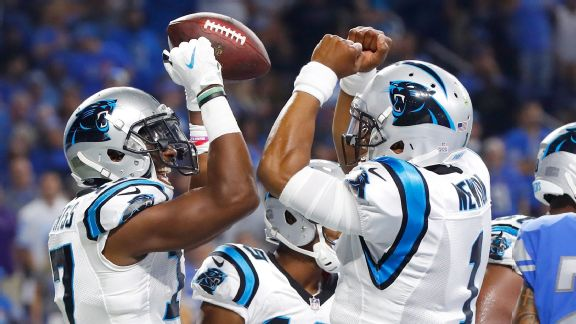 Lions vs. Panthers ( Devin Funchess TD Celebration)
