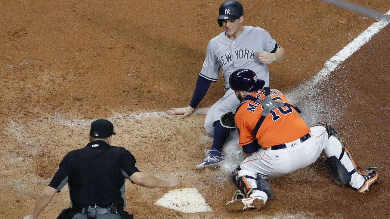 Brian McCann, Greg Bird, Astros-Yankees