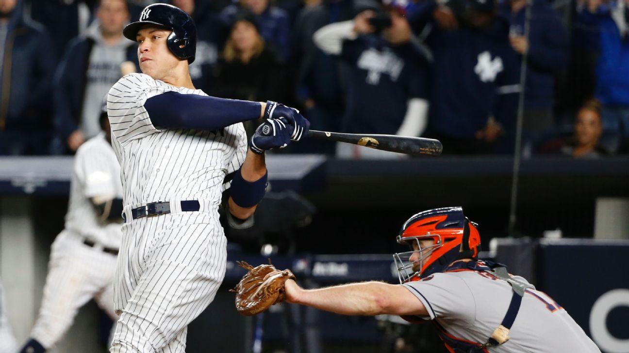 Aaron Judge batea jonrón con Yankees