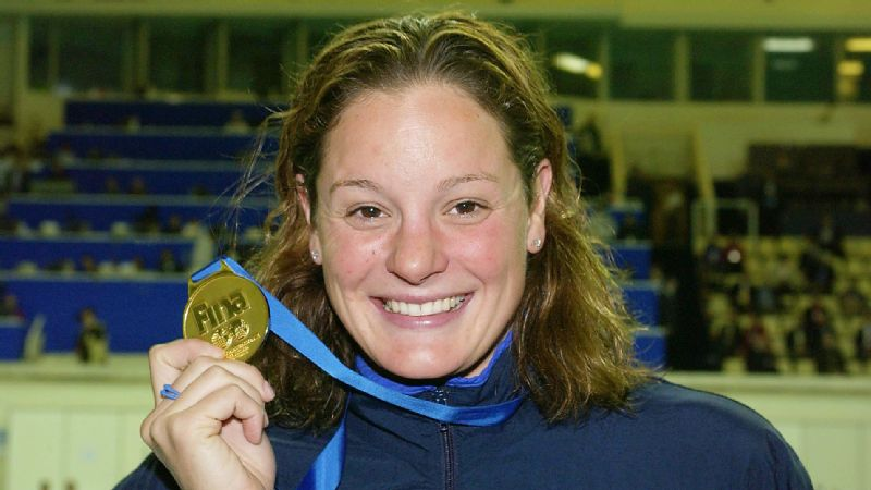Lindsay Mintenko, then Lindsay Benko, won gold as a U.S. team captain at the 2000 and 2004 Olympic Games in the 800-meter freestyle relay,