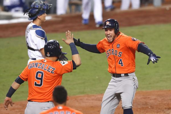 Carlos Correa Celebrates World Series Title With On Field