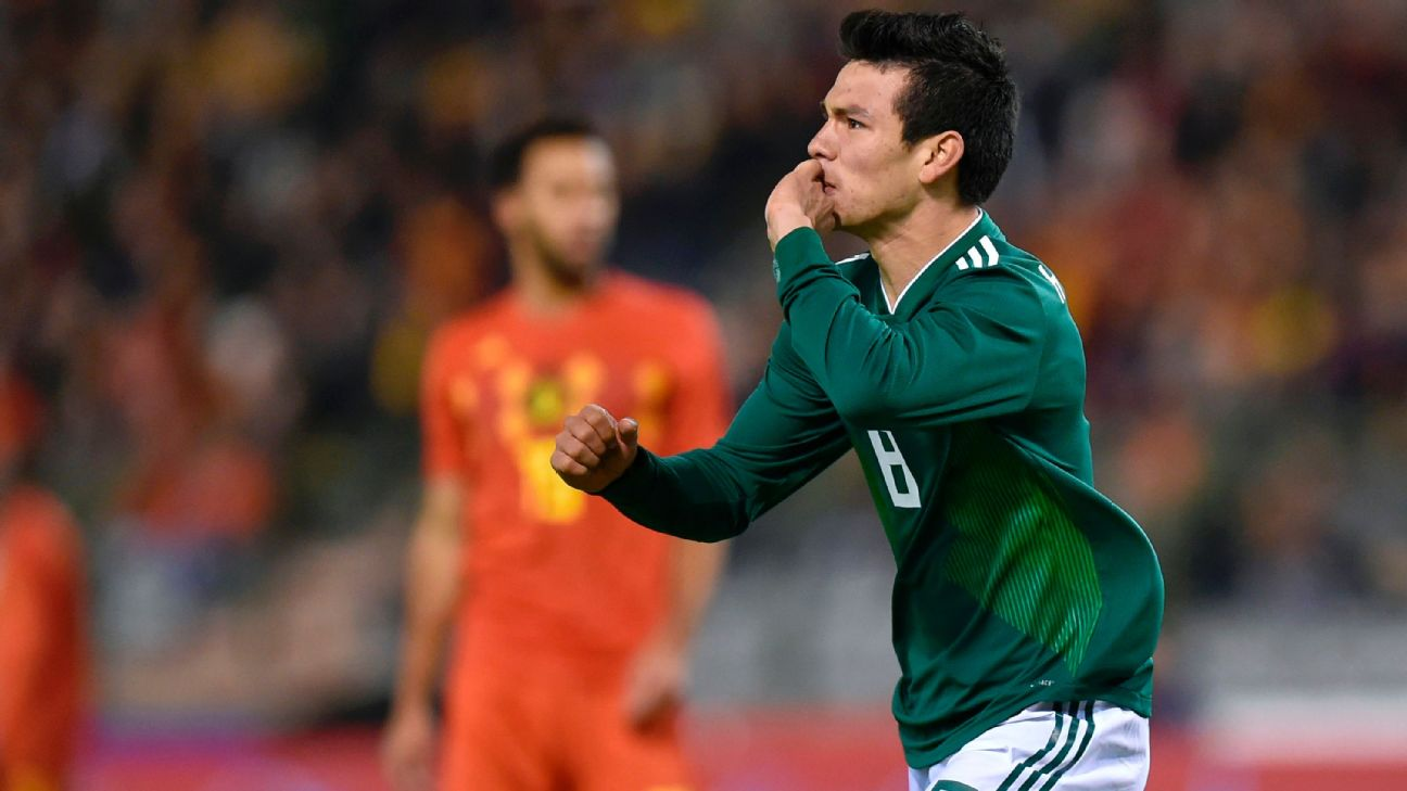 Hirving Lozano celebra con la Selección Mexicana. 1841e0e9a935d