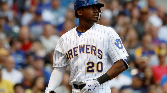 Lewis Brinson -- Milwaukee Brewers
