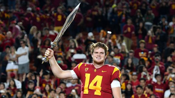 Image result for sam darnold usc sword
