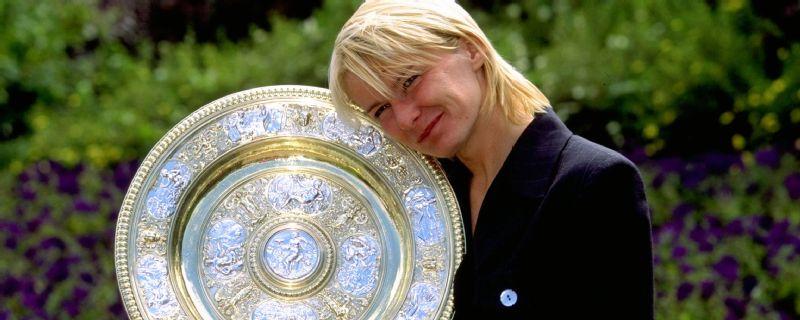 Jana Novotna was crowned Wimbledon singles champion in 1998.