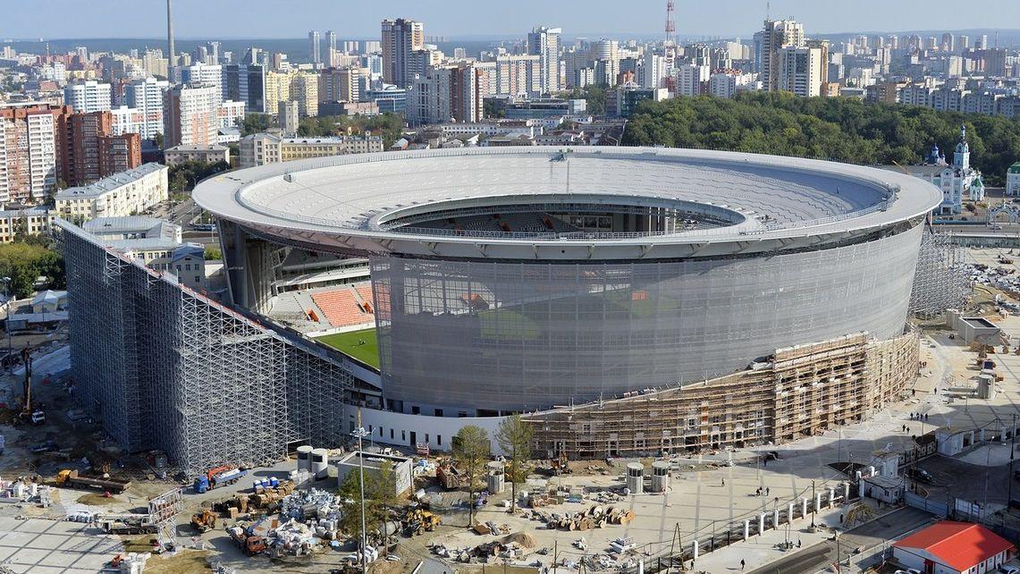 Se estrenó el Estadio Central de Ekaterinburgo en la previa de Rusia 2018