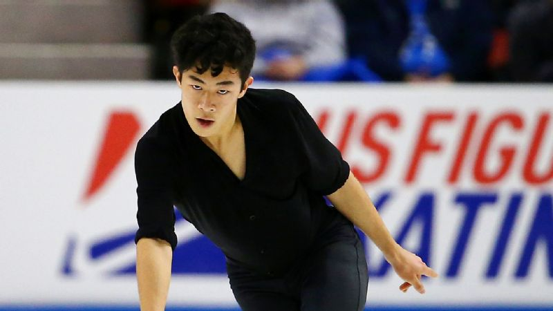 Nathan Chen, who is in first place after the short program at Skate America, will attempt five quad jumps during Saturday's free skate.