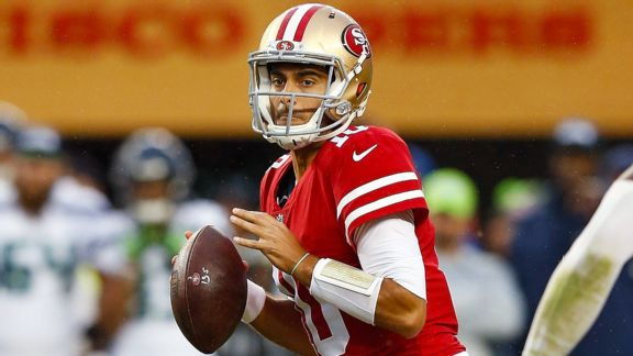 San Francisco 49ers name Jimmy Garoppolo starting QB