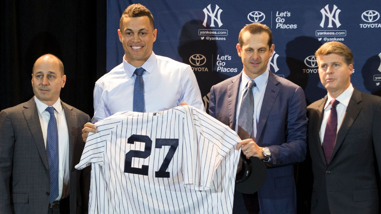 Giancarlo Stanton conferencia Yankees