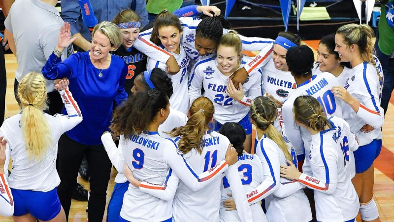 Florida's Mary Wise already was named the 2017 AVCA national coach of the year. On Saturday she's going for an even bigger prize.