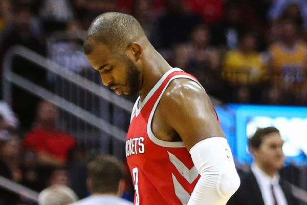 Rockets' Chris Paul (groin) doubtful to play on Monday