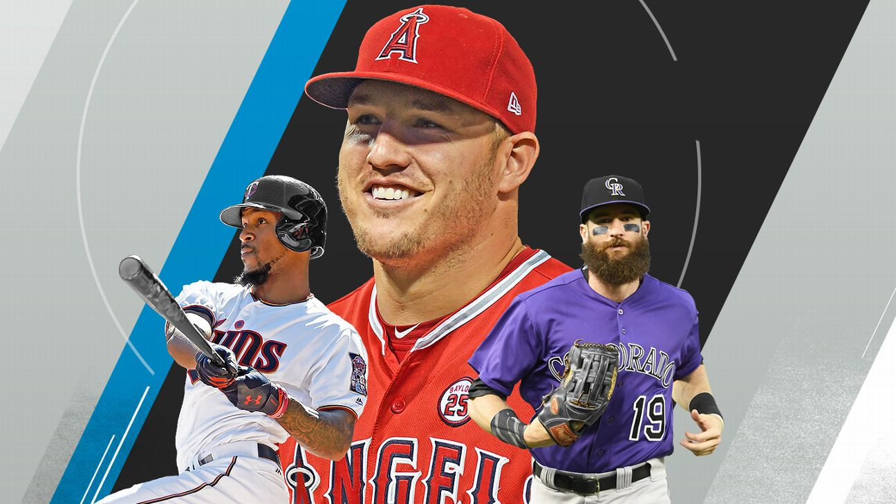 Mike Trout, Byron Buxton, Charlie Blackmon