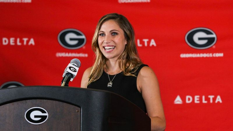 Courtney Kupets Carter was named head gymnastics coach at Georgia in May 2017. During her NCAA career, Kupets Carter became the first gymnast to win an NCAA title on every individual event -- and three in the all-around.