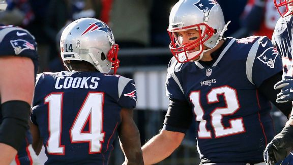 Brandin Cooks and Tom Brady