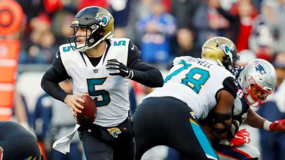 Jaguars vs. Patriots (Blake Bortles rolls out )