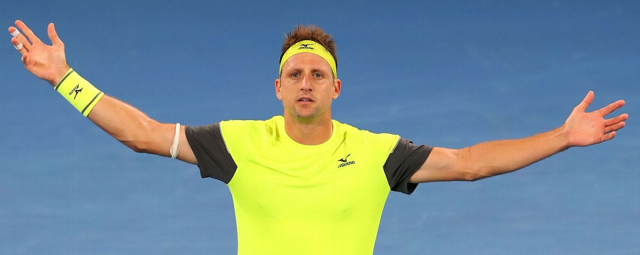Tennys Sandgren stunned Dominic Thiem to surge into the quarterfinals.