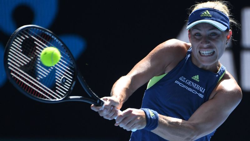 Angelique Kerber, the only singles Grand Slam winner remaining in the women's draw, won the first four games of the match en route to routing Madison Keys 6-1, 6-2.
