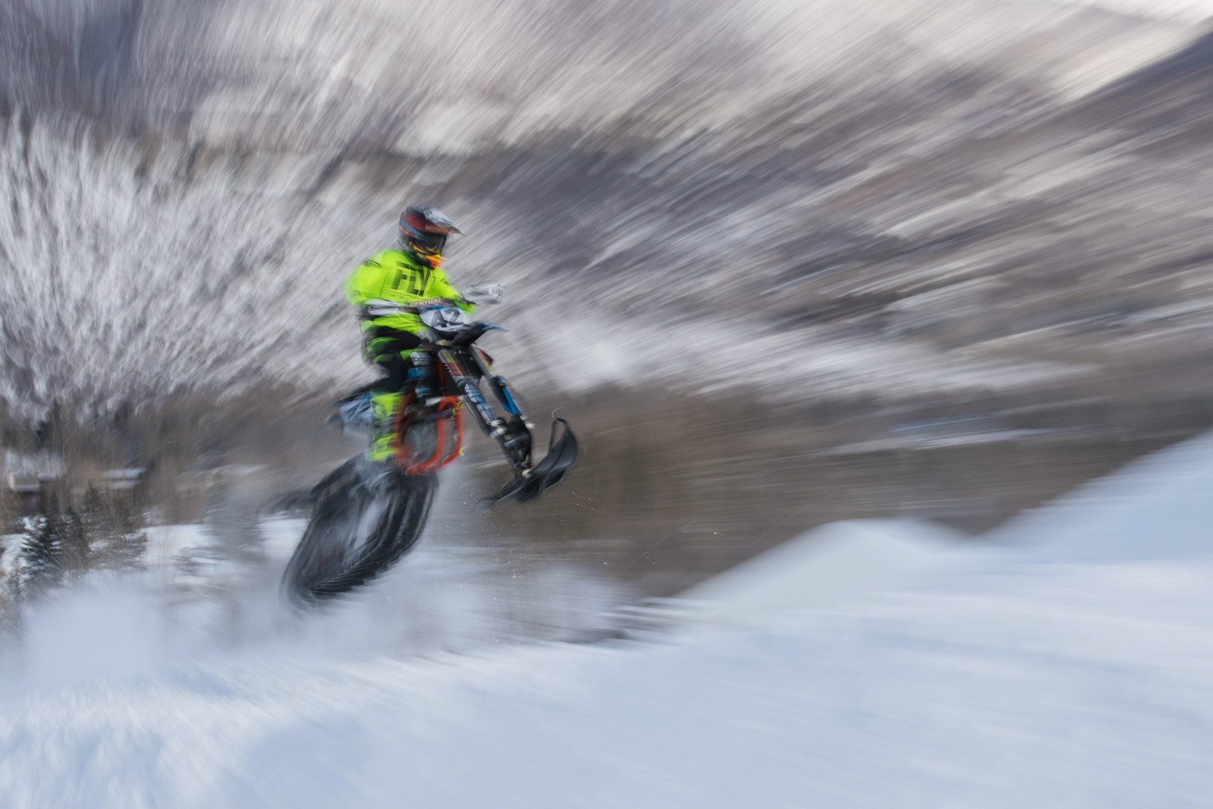 Jake Scott, Snow BikeCross practice