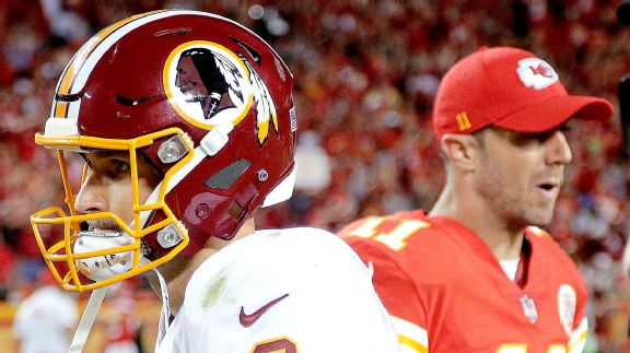 Kirk Cousins, Washington Redskins, Alex Smith, Kansas City Chiefs, 2017, NFL