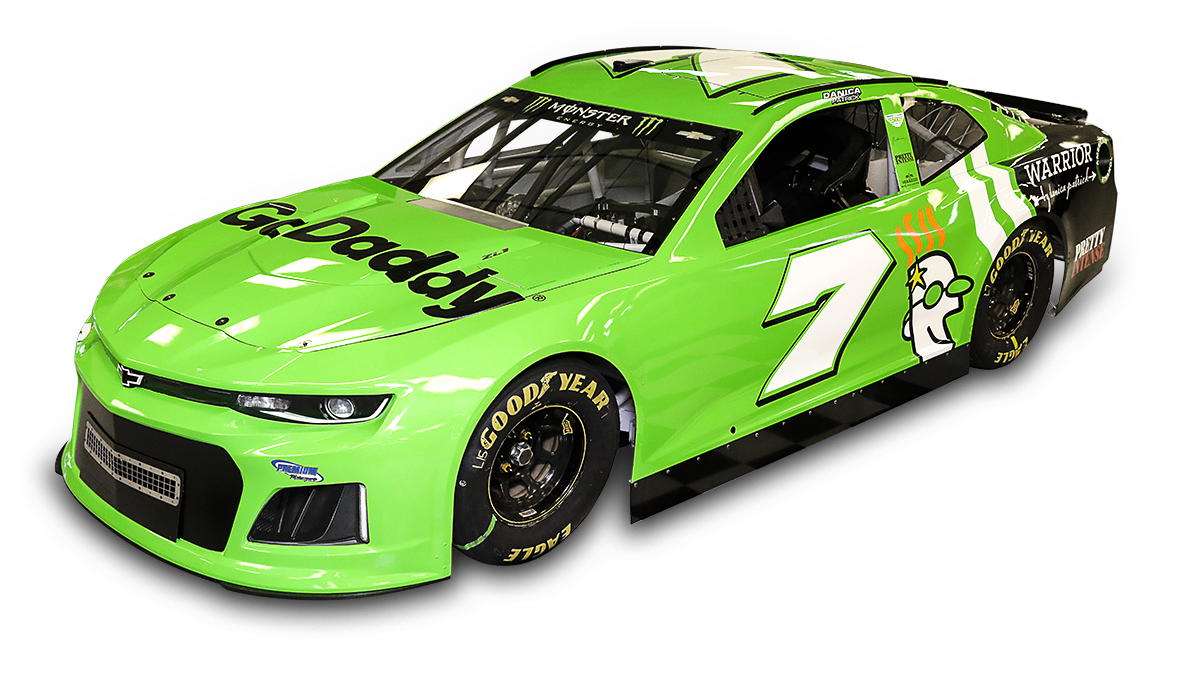 Danica Patrick will drive the #7 GoDaddy Chevy in the 2018 Daytona 500.