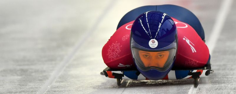 Team GB's skeleton hopefuls, including Lizzy Yarnold, have posted impressive practice times while wearing the new suits.