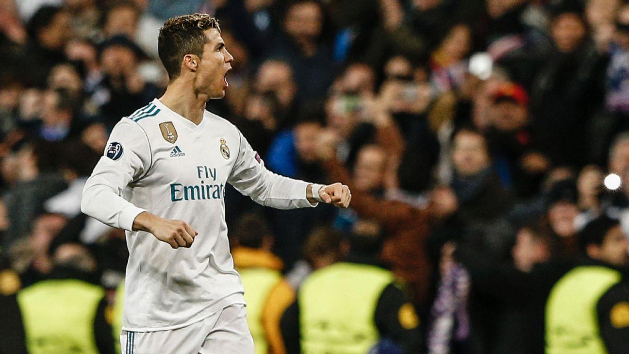 Cristiano Ronaldo Real Madrid celebra vs. PSG