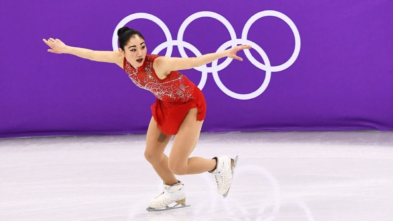 Mirai Nagasu became the first American woman -- and third overall -- to land a triple axel in the Olympics.