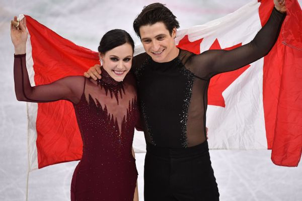 Canadian stars Tessa Virtue and Scott Moir won the gold medal in ice dancing at the Pyeongchang Games on Tuesday.