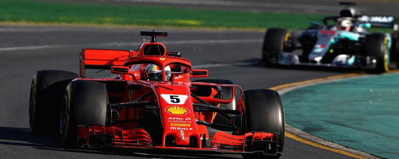 Sebastian Vettel claimed his third win at Albert Park, beating Lewis Hamilton to the win.