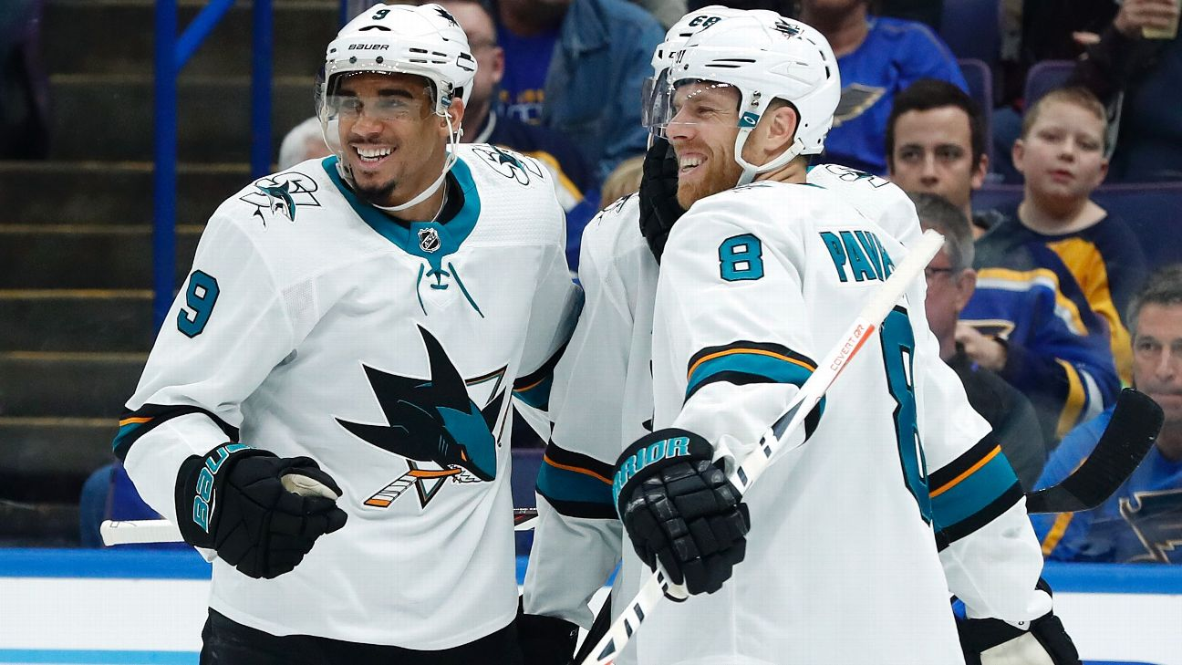Sharks' Couture beats Golden Knights in 2OT