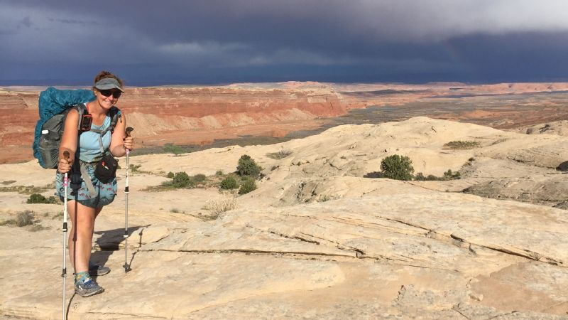 Arlette Laan on the Hayduke Trail in Utah -- a trail that ended up requiring some unexpected canyoneering.