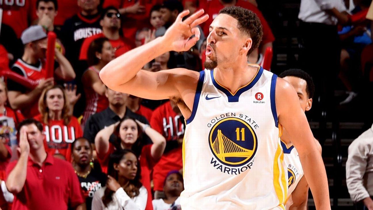 Warriors race past Rockets in NBA West finals opener