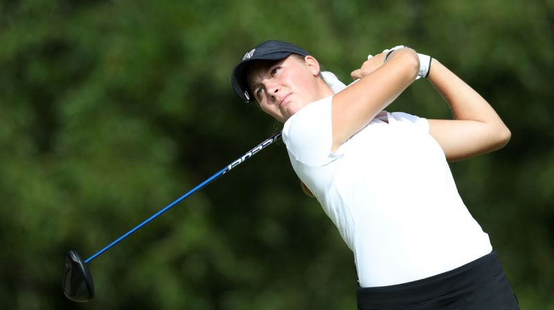Wake Forest's Jennifer Kupcho, pictured above at a tournament in the fall, overcame a bogey-double-bogey-bogey stretch Monday to win the NCAA title.