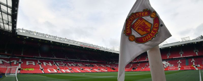 A general view of the corner flag during the Premier League match at Old Trafford